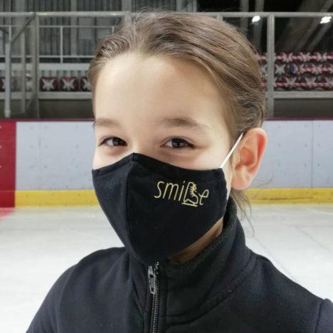 Mund-Nasen-Schutz mit Eiskunstlauf-Design