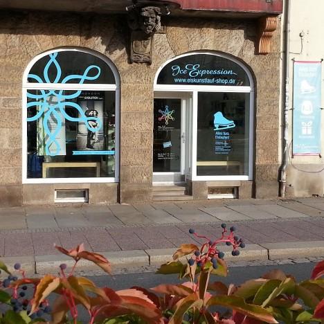 Schaufenster Eiskunstlauf Shop Dresden