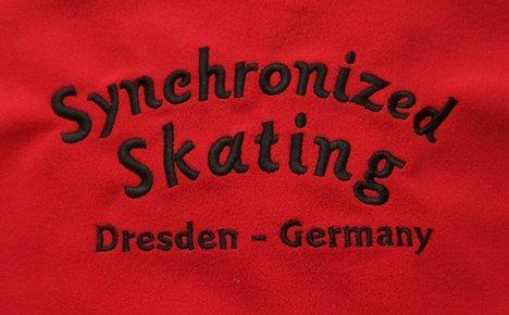 Synchronized Skating Logo Stickerei